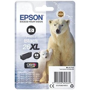 Epson Claria Premium 26XL mustekasetti (kiiltävä musta)