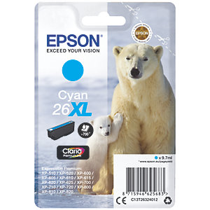 Epson Claria Premium 26 XL mustekasetti (syaani)