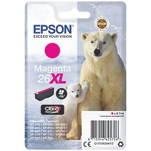 Epson Claria Premium 26 XL mustekasetti (magenta)