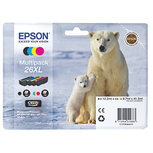 Epson Claria Premium 26XL väripatruuna (4 kpl)