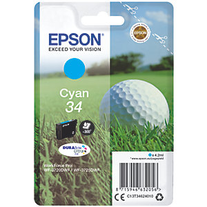Epson DuraBrite Ultra 34 bläckpatron (cyan)