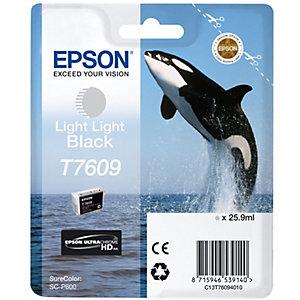 Epson UltraChrome HD T7609 bläckpatron(2x ljussvart)