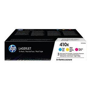 HP 410X - 3-pack - Høy ytelse - gul, cyan, magenta - original - LaserJet - tonerpatron (CF252XM)