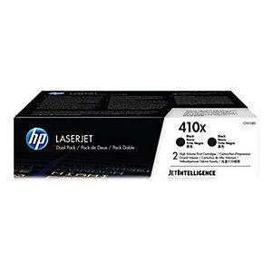 HP 410X - 2-pack - Høy ytelse - svart - original - LaserJet - tonerpatron (CF410XD)