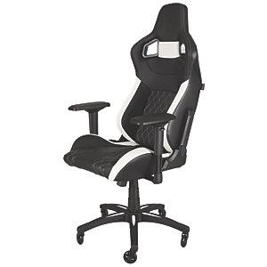 Corsair T1 Race Gamingstol (svart/vit)