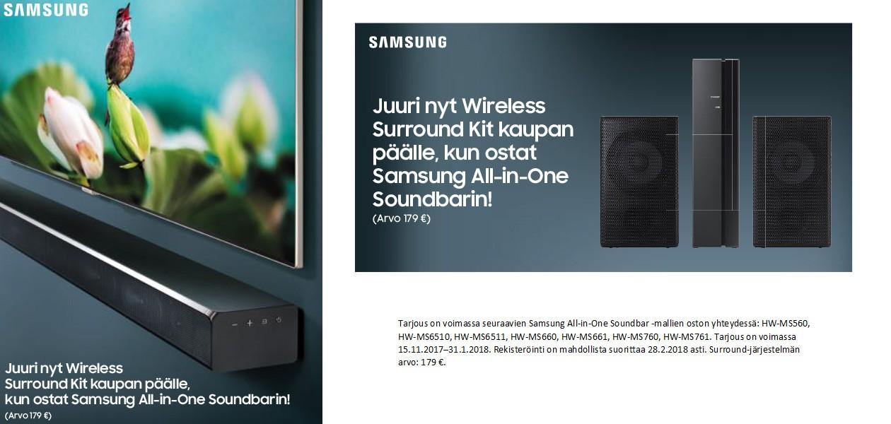 Osta Samsungin All-in-One soundbar - saat Wireless Surround -sarjan