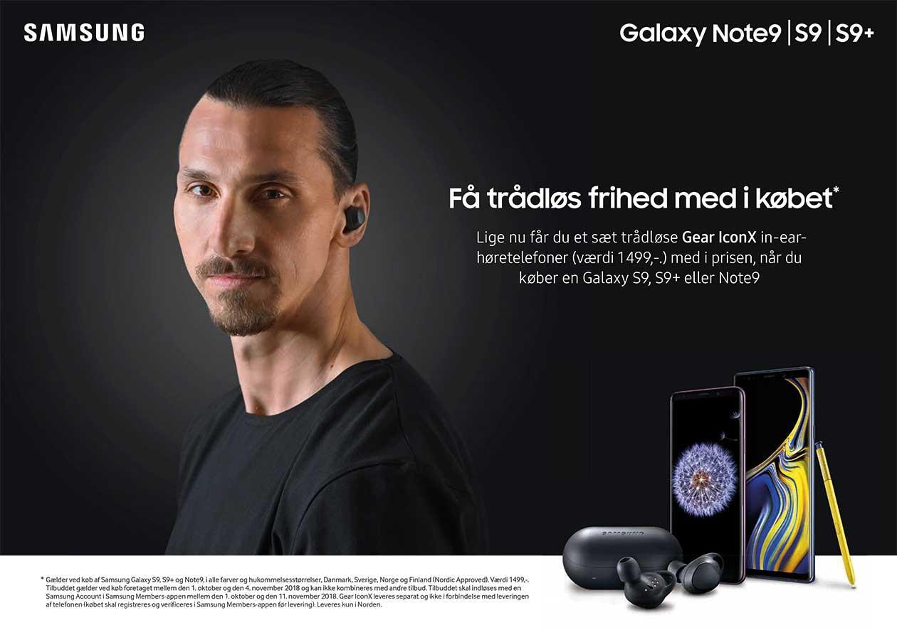 Køb Samsung Note 9 og få Gear IconX in-ear høretelefoner