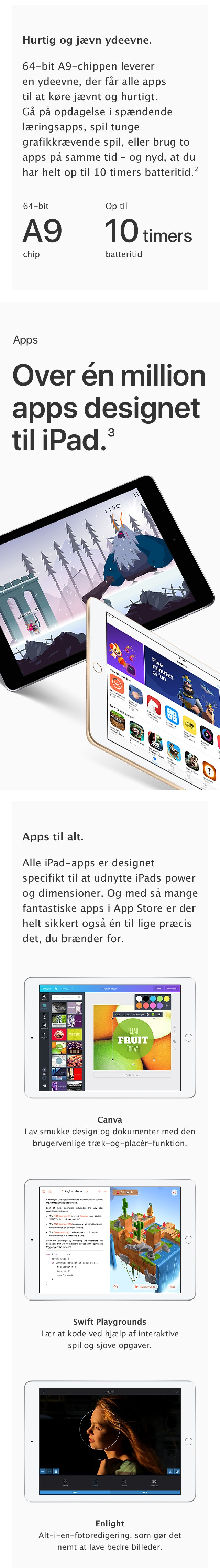Få over én million apps til den nye iPad