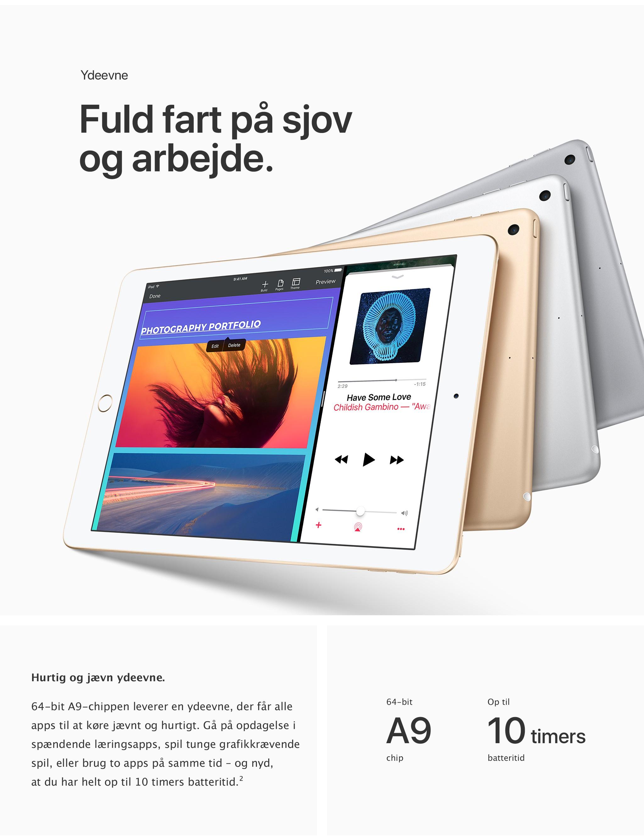 Fuld fart på sjov og arbejde med iPad