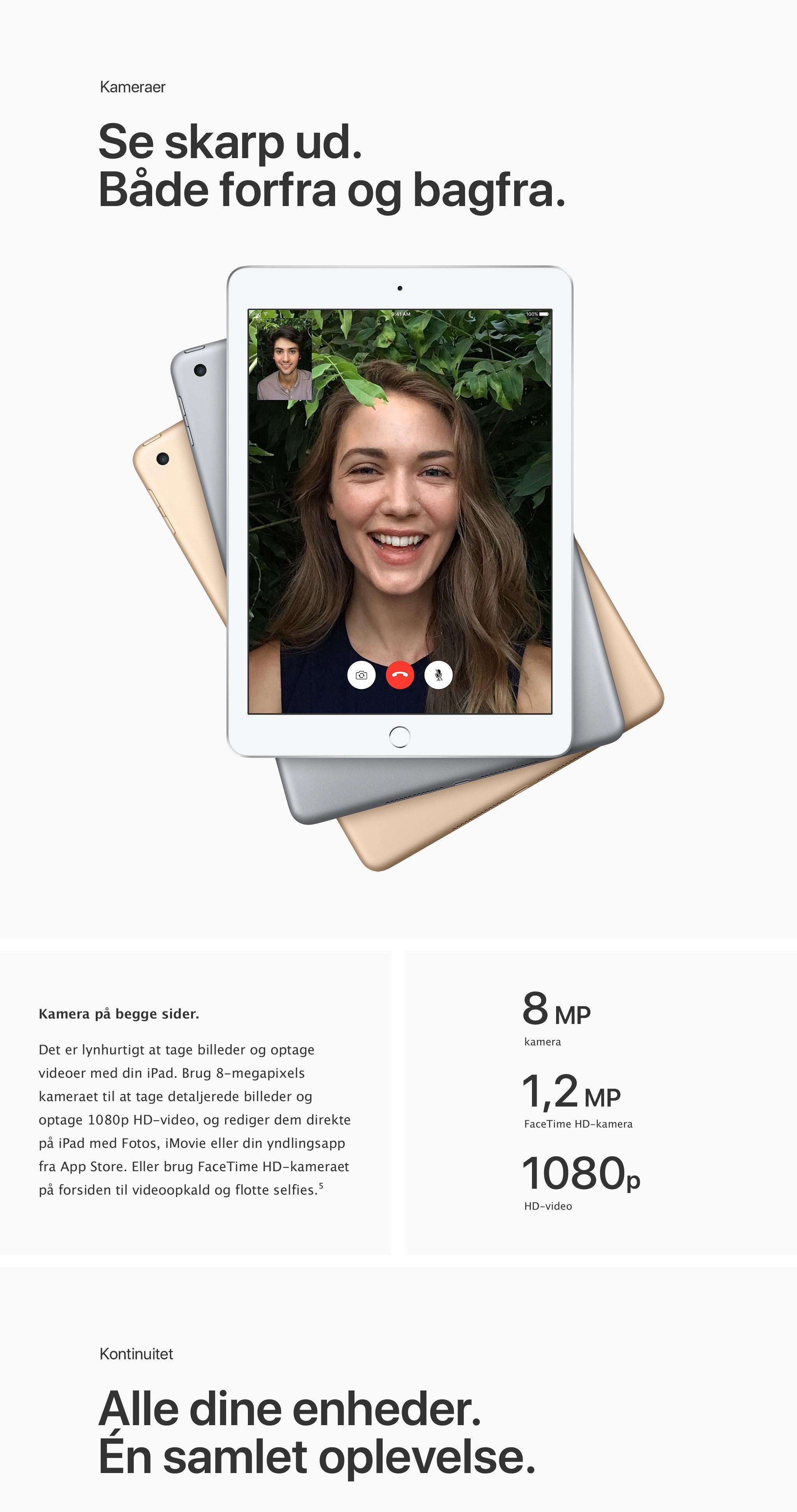 Med den nye iPad kan du tage skarpe billeder og problemfrit arbejde sammen med dine andre enheder