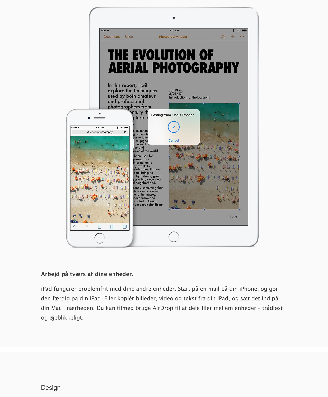iPad fungerer problemfrit med dine andre enheder