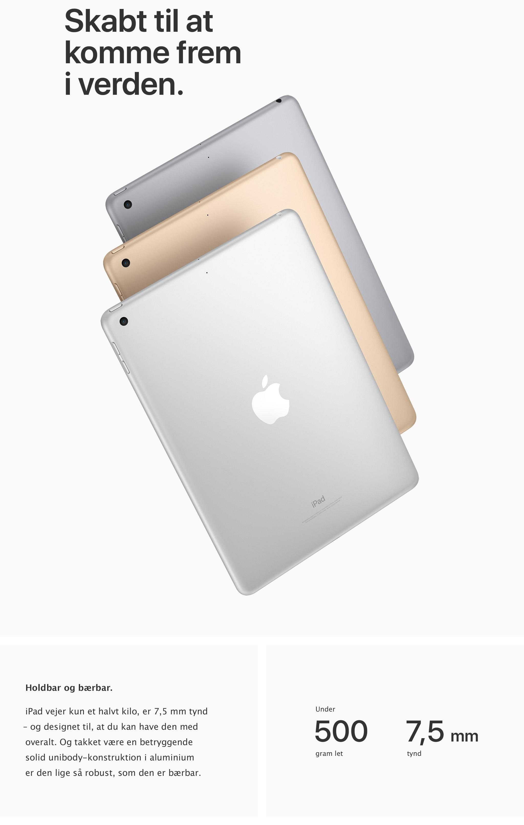 Den nye iPad er skabt til at komme frem i verden med