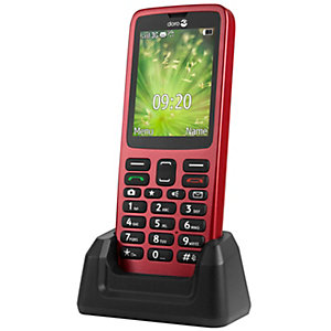 Doro 5517 mobiltelefon (rød)