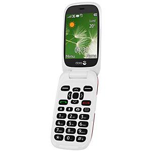 Doro 6521 mobiltelefon (rød/hvit)