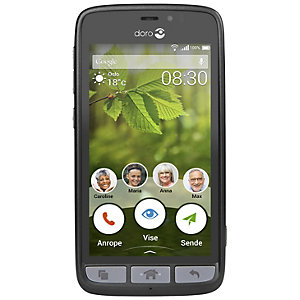 Doro 8030 Smartphone (svart/stål)