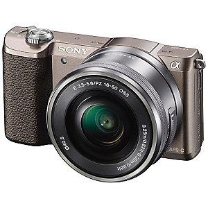 Sony Alpha A5100 kamera m/16-50 mm objektiv (titan)