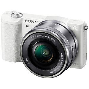 Sony Alpha A5100 järjestelmäkamera + 16-50 mm (valk)