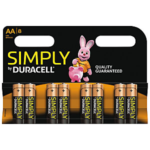 Duracell Symply AA alkaliparistot 8 pk