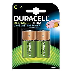 Duracell Recharge Plus C 3000mAh Batterier, 2-pack
