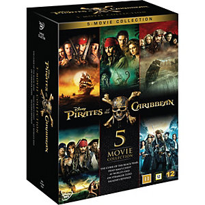 Pirates of the Caribbean - 5 Movie Collection (DVD)