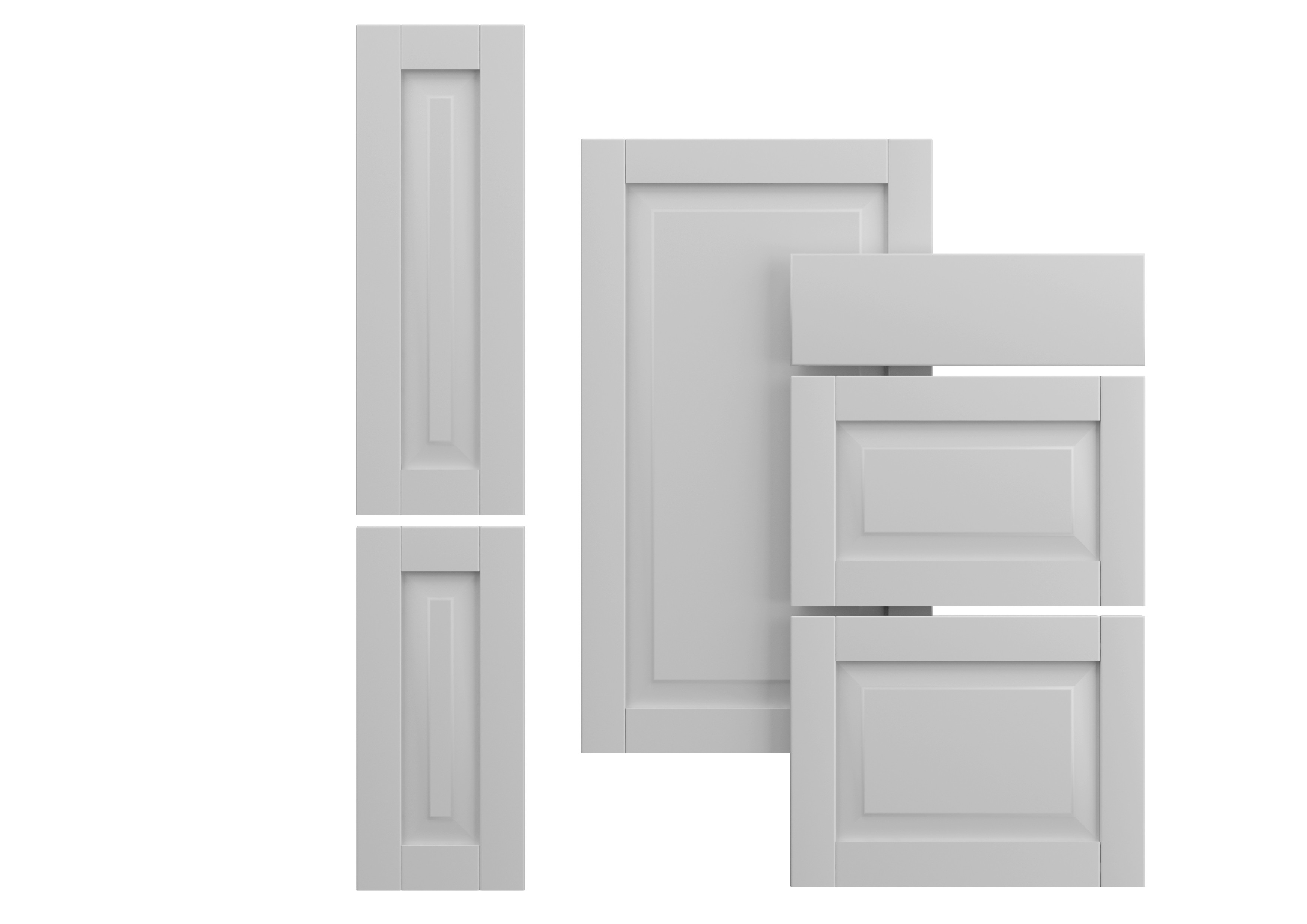 7340025914740 : Fasett Grey Skuffefront 80x13