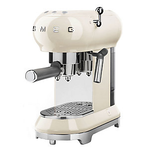 Smeg 50's style kaffemaskin ECF01 (kremhvit)