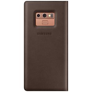 Samsung Galaxy Note 9 nahkainen suojakotelo (ruskea)