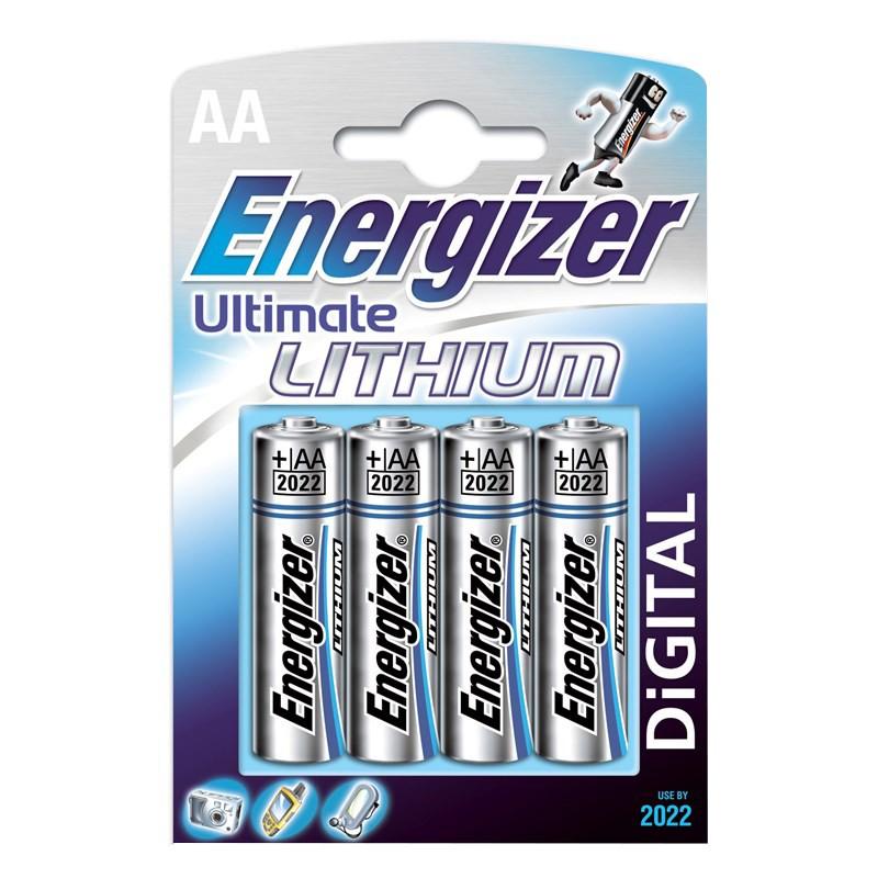 235203 : Energizer Ultra Litium AA-batterier 4 stk