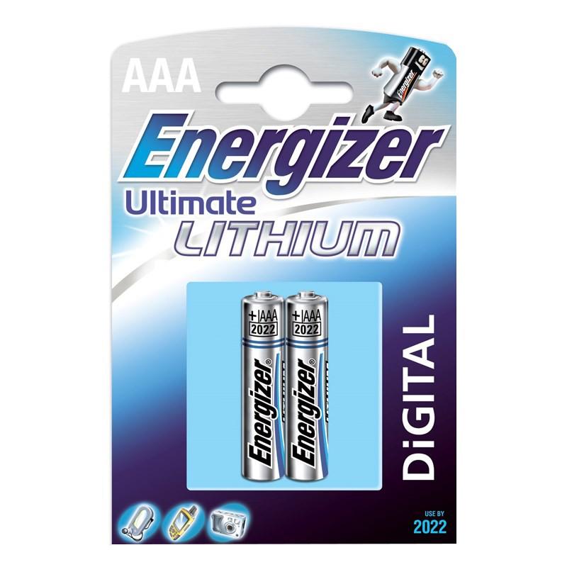 235204 : Energizer Ultra Litium AAA-batterier 2 stk