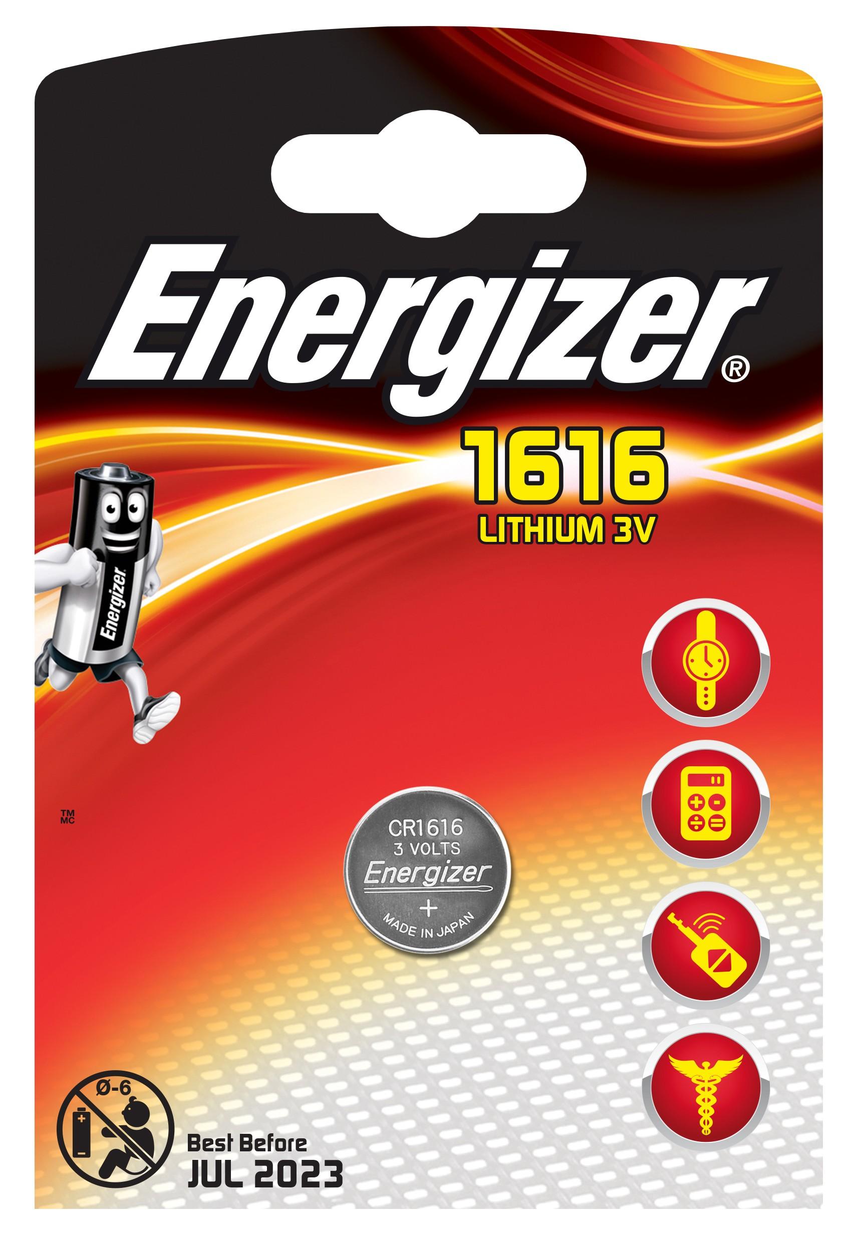 235419 : Energizer CR1616 Litium batteri (1 stk)