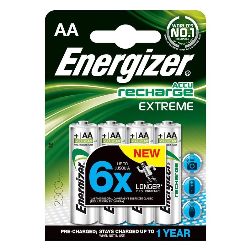 235425 : Energizer AA/LR6 oppladbare batterier (4 stk)