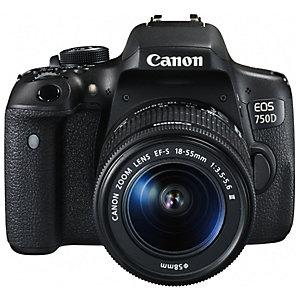 Canon EOS 750D systemkamera + 18-55mm DC Irista-sett