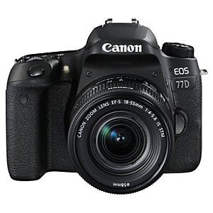 Canon EOS 77D systemkamera + 18-55mm IS STM objektiv