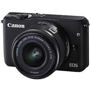 Canon EOS M10 Systemkamera + 15-45 mm objektiv (svart)
