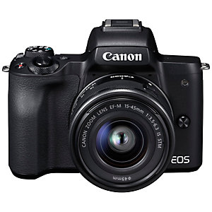 Canon EOS M50 kompaktkamera +15-45 IS STM obj. (sort)