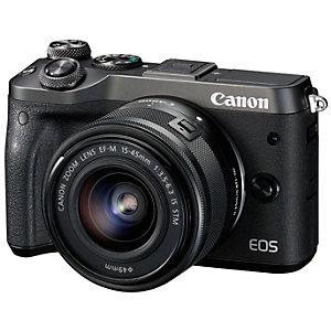 Canon EOS M6 järjestelmäkamera + 15-45mm objektiivi