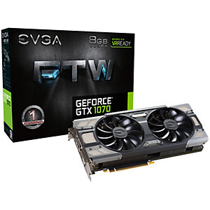 EVGA GeForce GTX 1070 FTW Gaming grafikkort 8G