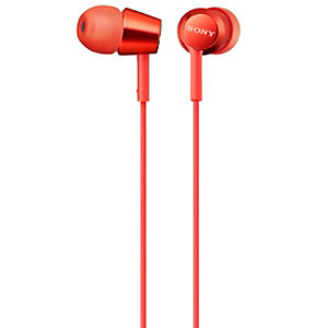 Sony in-ear hörlurar MDR-EX155 (röd)