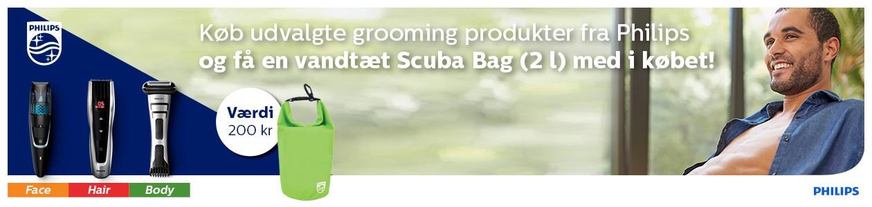 Køb Philips Grooming produkter og få en scuba bag med i købet