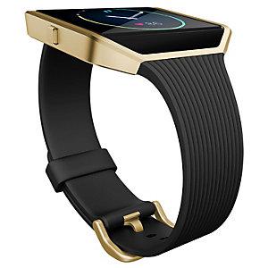 FitBit Blaze-armbånd med riller (sort/gull)