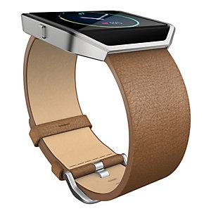 FitBit Blaze armband läder L (kamelbrun)