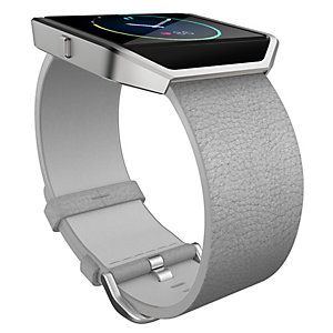 FitBit Blaze armband läder L (grå)