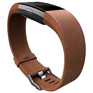 FitBit Charge 2 Handledsrem i läder S (brun)
