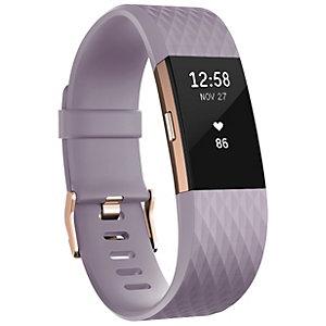 Fitbit Charge 2 aktivitetsmåler rosegull/lavendel (S)