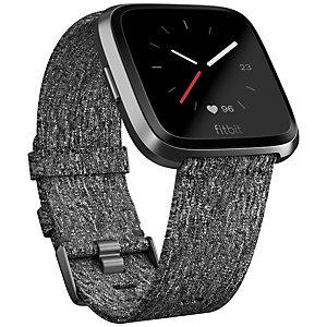 Fitbit Versa smartklokke (kullvevet/grafitt)