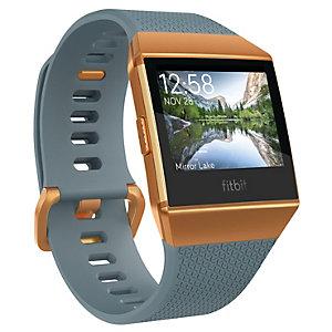 Fitbit Ionic smartklokke (skiferblå/brent oransje)