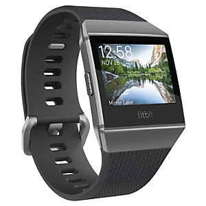 Fitbit Ionic smartklokke (koksgrå/røykgrå)
