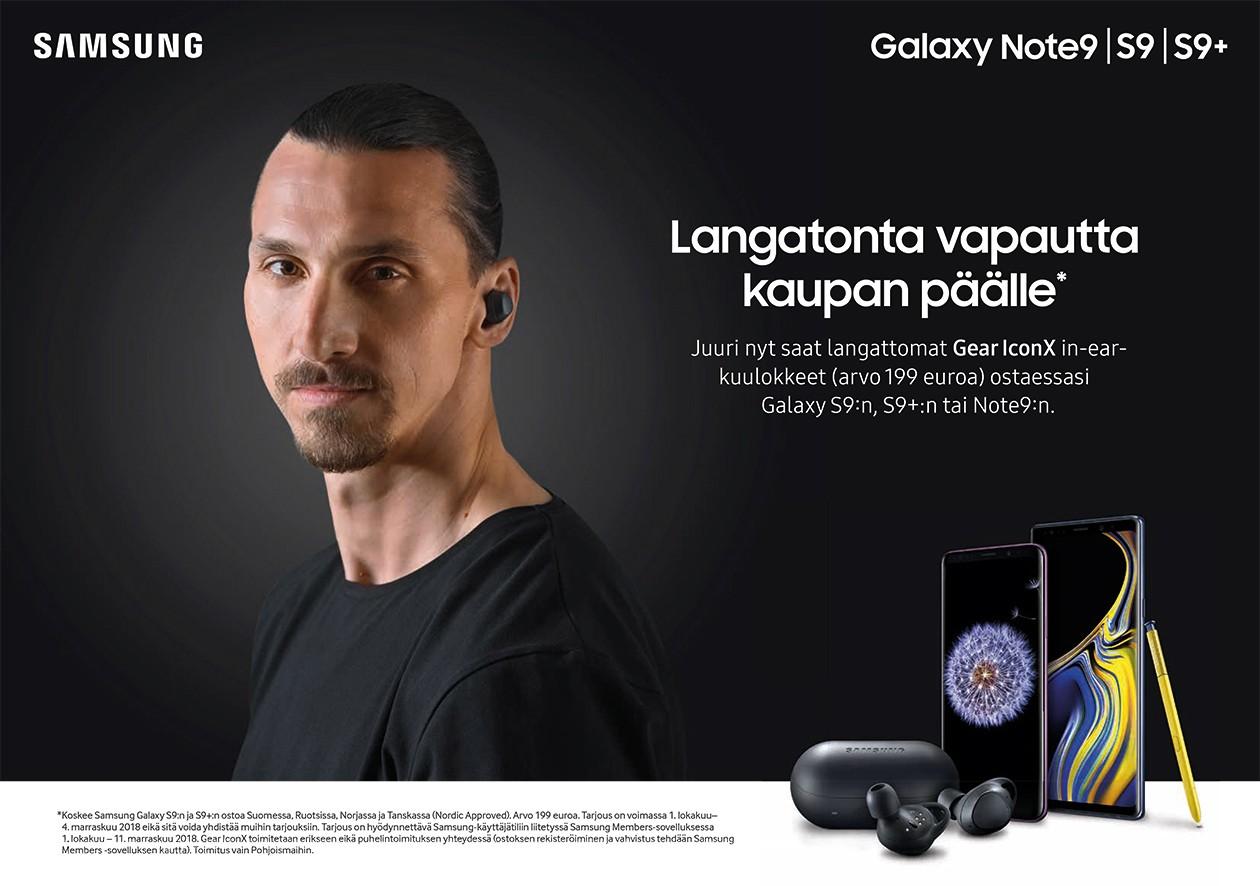Osta Samsung Galaxy Note 9 ja saat Gear IconX in-ear-kuulokkeet kaupan päälle