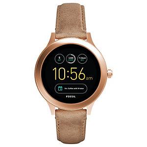 Fossil Q Venture smartwatch (hudfärgad/läder)