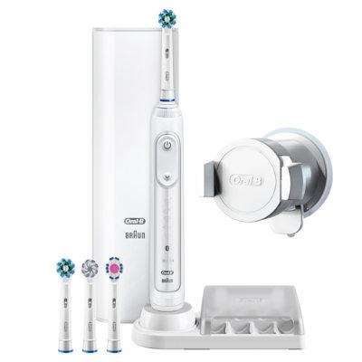 oral b genius 9000 elektrisk tannb rste hvit. Black Bedroom Furniture Sets. Home Design Ideas